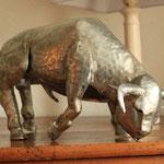 taureau zinc brut 40 cm