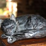 chat couche zinc brut 20 cm