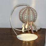 lampe méduse peinte 27cm