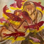 Baiser 2020 Öl auf Leinwand  54 x 65 cm