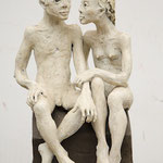 Le couple assis 2019 Terrakotta  63 x 33 x 40 cm