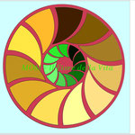 Mandala colorato al computer