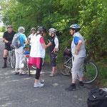 In Eckelshausen wird beratschlagt und die Gruppe teilt sich.