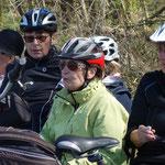Rast auf der Fahrt nach Caldern am 20. April 2015