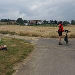 Kurz vor dem anvisierten Frauenberg wird nochmal gerastet und ...