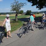 Vor Fronhausen wird kurz pausiert.