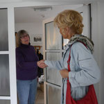 Begrüßung an der Haustür