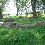 ... die Reste einer Kappelle bei Fronhausen, dann geht es weiter nach Lollar.