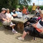 Rast auf der Fahrt nach Obersimtshausen am 23. Juni