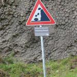 Vom Steinschlag bedroht