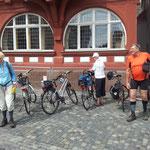 Ankunft auf dem Marktplatz von Kirchain am 16. Juni 2014