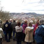 Blick von der Bismarckpromenade zum Marburger Schloss