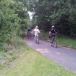 Am 18. August durchqueren wir den Burgwald in Richtung Oberrosphe.