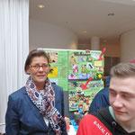 Die Bürgermeisterin Frau Jörder an unserem Ausstellungsstand