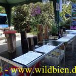 Präsentation der Wildbienenhäuser