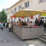 Terrasse Stollberg Fußgängerzone