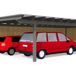 Doppelcartport 3D-Visualisierung