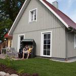 Holzrahmenhaus mit Holzfassade