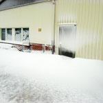 10.03.2013 noch 6 Tage bis Schlengelaufbau und 1 Meter Schnee vorm Bootshaus Foto: Lutz Lühmann