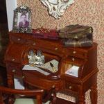Abre cartas y lentes de Lourdes Areal: LXL; libros de Olga Asensio: Chriser Miniaturas; papel de cartas decorado y carpeta de Brujita