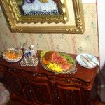 Cubiertos, salpimentero y vinagreras de Victor Pain: Simply silver; bandeja de salmón de Montse Riqué; roast beef de Mª Jesús Chaparro