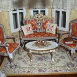 Cojines realizados y bordados por Pedro Trigos: Pedrete miniaturas; libro de Atalanta