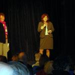 Ginette Leboucher et le Dr Irène Ceballos, spécialiste de la maladie de Lesch-Nyhan