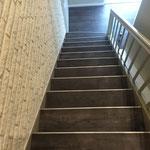 Treppe mit Vinyl / Design - Belag
