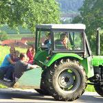 Eine lustige Traktorfahrt