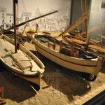 Visite d'un musée vers la plage où l'histoire des marins y était contée, ces bateaux étaient magnifiques !