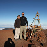On the Top of Mauna Kea - 4205m above sea level - bis 4170 ist geteert ;-)