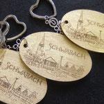 Schlüsselanhänger mit Schwabacher Blattgold vergoldet