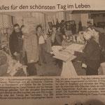 Bericht des Schwabacher Tagblatts am 09.02.13 über die Hochzeitsmesse