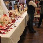 Hochzeitsmesse Roth Blick auf rote Muster