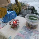 Ancolé-Basteln am Weihnachtsmarkt