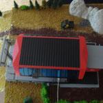 Bergstation und Bergstationsplateau aus der Vogelperspektive