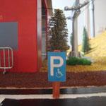 Parkplatz an der Schneewittchenbahn