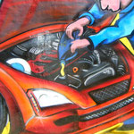 graffiti madrid motor coche