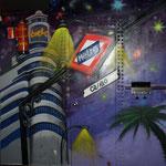 vista en graffiti de Madrid
