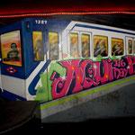 graffiti metro madrid
