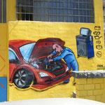 madrid graffiti de coche