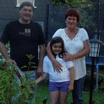 Marie & ihre Großeltern. Schrems.