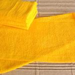 20番単糸 反応ゴールド バスタオル