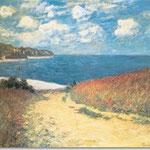 Claude Monet: Strandweg zwischen Weizenfeldern bei Pourville, 1882