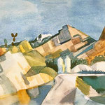 August Macke: Felsige Landschaft, 1910-14