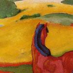 Franz Marcc: Pferd in Landschaft, 1910