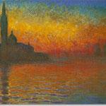 Claude Monet: Sonnenuntergang in Venedig, 1908