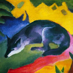 Franz Marc: Blauschwarzer Fuchs, 1911