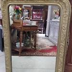 Ancien miroir en plâtre