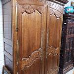 Ancienne armoire en chêne centre Manche XIXe